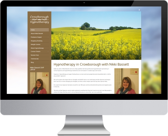 Crowborough Hypnotherapy Website Design