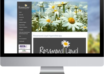 Rosamond Lloyd Hypnotherapy Website Design