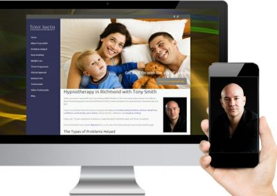 Tony Smith Hypnotherapy Website Design